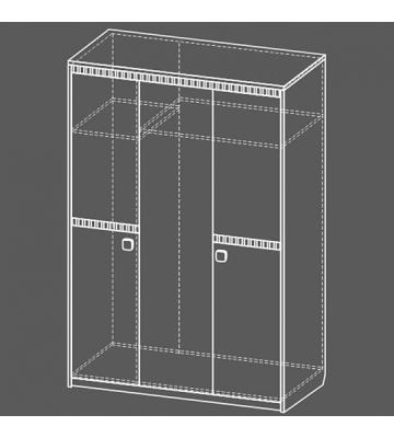 Шкаф для одежды Рио Пикар-Дуб стайлинг