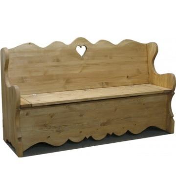 Интересная скамья сундук 160 с резным декором