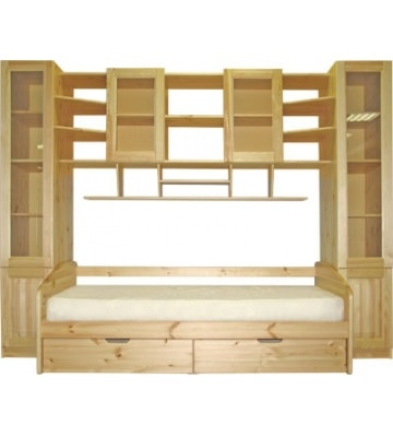 Стенка-надстройка ДМ-Ника для детской комнаты без дивана