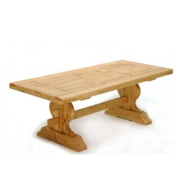 Красивый стол Монастырский 180 и 220 с 2 резными ножками