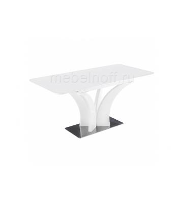 Стол стеклянный Horns 140 super white