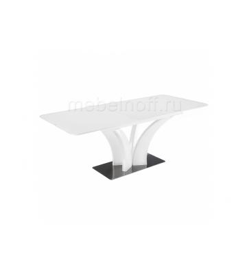 Стол стеклянный Horns 160 super white