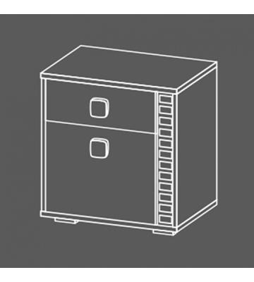 Прикроватная тумба Эльза БМ-1663 с ящиком