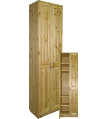 Удобный шкаф с полками Шк-Кл из массива сосны