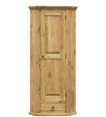 Угловой шкаф для белья с ящиком и 3 полками