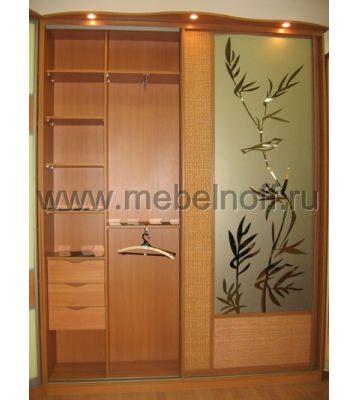 Встроенный шкаф купе с рисунком «Бамбук» (модель 32)