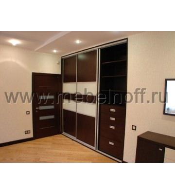 Встроенный шкаф купе в стиле минимализм (модель 16)