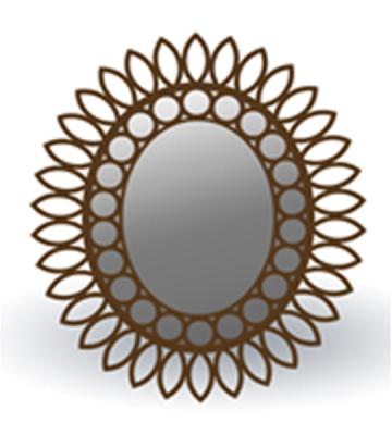 Зеркало из дерева Орех арт. 177