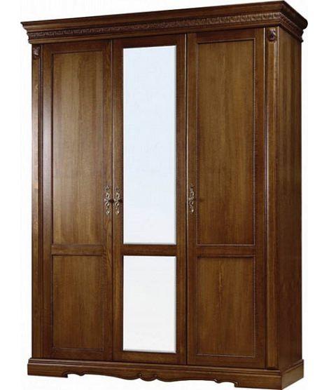 Трехдверный шкаф Милана П294.01 с одним зеркалом